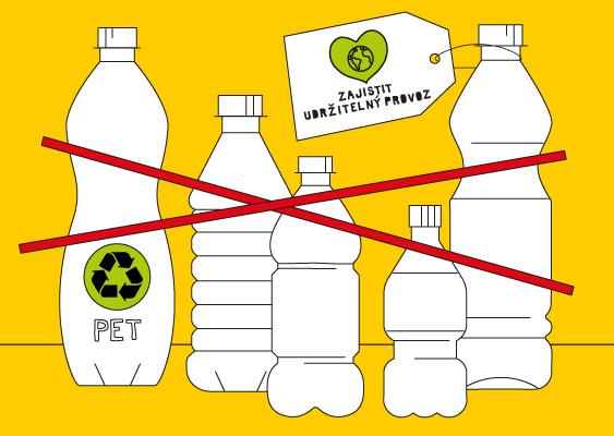 Vyřadit nápoje vplastových jednorázových obalech zkanceláří a provozů.